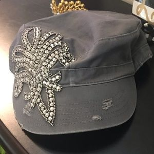 Distressed Hat with Bling